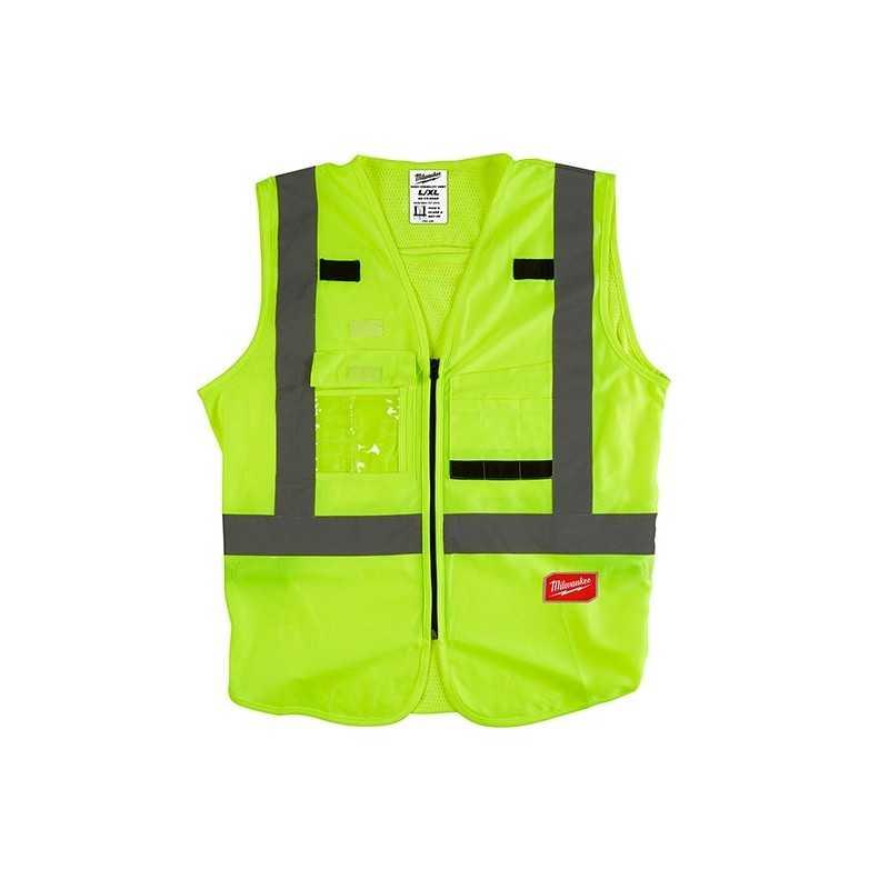 Chaleco De Seguridad Resistente Amarillo Ultra Reflejante Xxg/Xxxxg AMIL48735083 MILWAUKEE