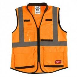 Chaleco De Seguridad Resistente Naranja Ultra Reflejante Xxg/Xxxxg AMIL48735093 MILWAUKEE