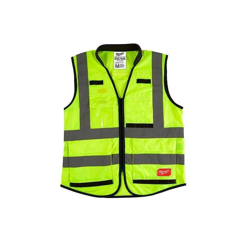 Chaleco Premium De Seguridad Alta Visibiidad Amarillo Xxg/Xxxg AMIL48735043 MILWAUKEE