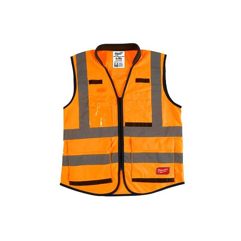 Chaleco Premium De Seguridad Alta Visibiidad Naranja G/Xg AMIL48735052 MILWAUKEE