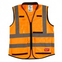 Chaleco Premium De Seguridad Alta Visibiidad Naranja Xxg/Xxxg AMIL48735053 MILWAUKEE
