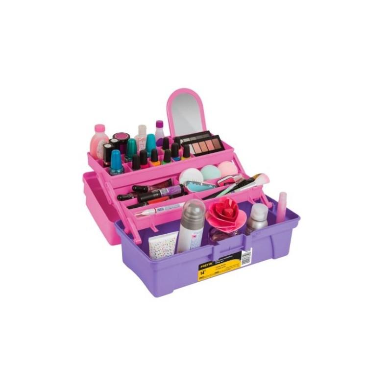 "Caja Cosmetiquera 14"", Rosa/Morado, Pretul 25052 PRETUL-25052 PRETUL"