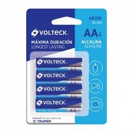 Pila Alcalina Tamaño AA, Blister Con 4 Pzas, Volteck TRUP-46315 TRUPER