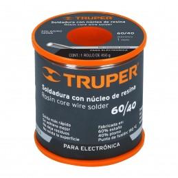 Soldadura Con Núcleo Resina 60/40, Para Electrónica, 450 G Truper 14366 TRUP-14366 TRUPER