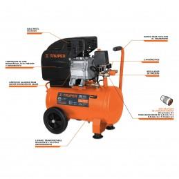 """Compresor Horizontal, 25 L, 3-1/2"""" Hp (Potencia Máx), 127 V TRUP-15006 TRUPER"""