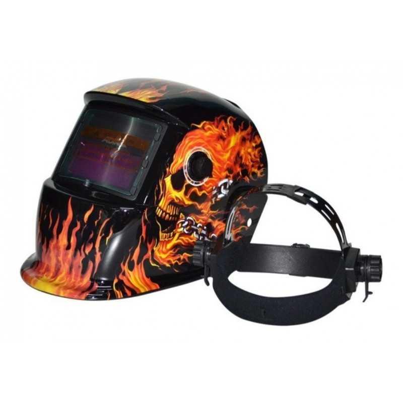 Careta Electronica Para Soldar Flaming Skull ADIR6711 ADIR
