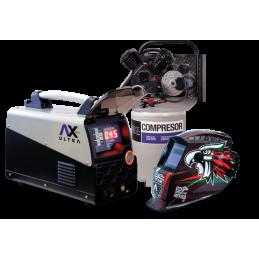 Corte De Plasma Axt-P1045Cd Compresor 40 Lts Y Careta Electronica CEN-AXT-COM02 AXTECH