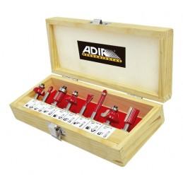 Brocas Para Router 8 Piezas Profesionales Adir 0158 ADIR0158 ADIR