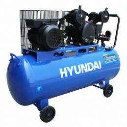 Compresor De Banda A Gasolina 100 Litros 2 Hp 115 Psi 110V 60Hz Hyundai Hyu-Hyac100C HYU-HYAC100C HYUNDAI