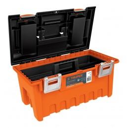 "Caja plástica 19"" naranja, broche metálico TRUPER 11811 TRUP-11811 TRUPER"