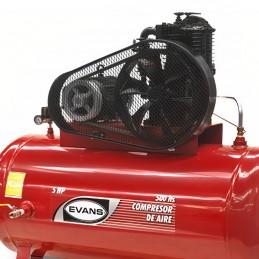 Compresor De Banda 5 Hp 500 Litros 16 Pcm Bifásico Evans Ve230Me500500 VE230ME500500 EVANS