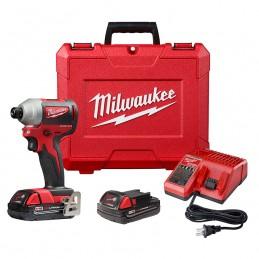 "Llave De Impacto 1/4"" 18 Volts 0-3,400 Rpm 0-4,200 Ipm Milwaukee 2850-22CT MIL2850-22CT MILWAUKEE"