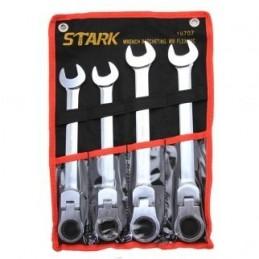 Llaves Combinadas Tipo Matraca Flex 4 Piezas Stark Tools 18707 STK18707 STARK