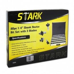 """Brocas Para Router 80 Piezas 1/4"""" Stark Tools 32201 STK32201 STARK"""