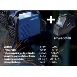 Soldadora 200 Amperes 110 Volts 50/60 Hz .6 Kva + Careta Hywh-350Fn Hyundai Hyu-Packsold9 HYU-PACKSOLD9 HYUNDAI