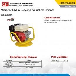 Vibrador De Concreto 5.5 Hp Gasolina No Incluye Chicote California Machinery CALCGX160 CALCGX160 CALIFORNIA CONSTRUCTION