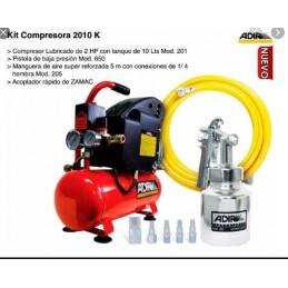 Compresor Direct Drive 2 Hp 110 Volts 115 Psi Con Mang Y Pisto Adir Adir2010K ADIR2010K ADIR