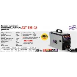 Soldadora Inversora Mig/Mag 100 Amperes 110 Volts Electrodo Axtech Cen-Axt-Em102Pe CEN-AXT-EM102PE AXTECH