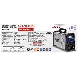 Soldadora Inversora Electr/Tig Lift 200Amperes Bivoltaje 110-220Volts Axtech Cen-Axt-207Lcd AXTECH CEN-AXT-207LCD