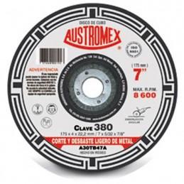 """Disco Para Corte Metal 7"""" Austromex 380 (Cubo) AUS380 AUSTROMEX"""
