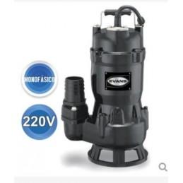 "Bomba Para Solidos De Max 1.5"" Monofasica 220V 2 Polos 5 M Ca Evans Vsv2Me100G VSV2ME100G EVANS"