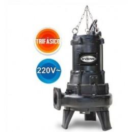 Bomba Sumergible Para Lodos Evans 7.5 Hp Trifásica 220V 13 Metros Evans Vsv4Me0750G VSV4ME0750G EVANS