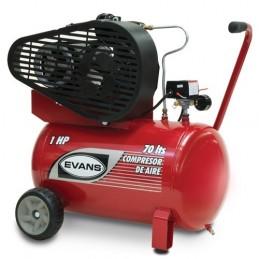 Compresor De Banda 1 Hp 70 Litros 5 Pcm Evans Ve055Me100-070 VE055ME100-070 EVANS