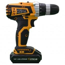 Taladro De 10Mm Con 2 Baterias Recargables De 18 Voltios Con Ju Hoteche Hpp800104 HPP800104 HOTECHE