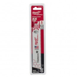 Segueta Super Sawzall 10 Dientes 6 Largo Torch Corta Metal Milwaukee 48005712 AMIL48005712 MILWAUKEE ACCESORIOS