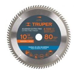"Disco Sierra Para Madera 10"" 80 Dientes Centro 1"" Truper 18309 TRUP-18309 TRUPER"