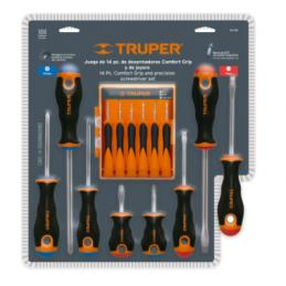 Desarmadores, Mango Comfort Grip Blister 14 Piezas Truper 14197 TRUP-14197 TRUPER