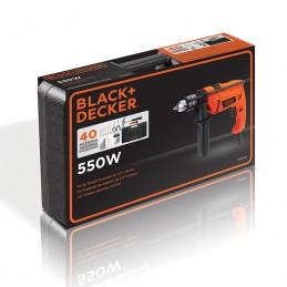 """Rotomartillo 1/2"""" 550Watts V.V.R. Caja Plastica Y 40 Herramientas Black & Decker BDHD565K-B3 BDHD565K-B3 BLACK AND DECKER"""