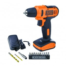 Taladro Atornillor 12 Volts + 13 Accesorios Black & Decker BDLD12SP-B3 BDLD12SP-B3 BLACK AND DECKER