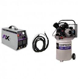 Plasma Axt-P9040Cbv Compresor 2 Hp 40 Litros Y Antorcha Plama CEN-AXT-COM04 AXTECH