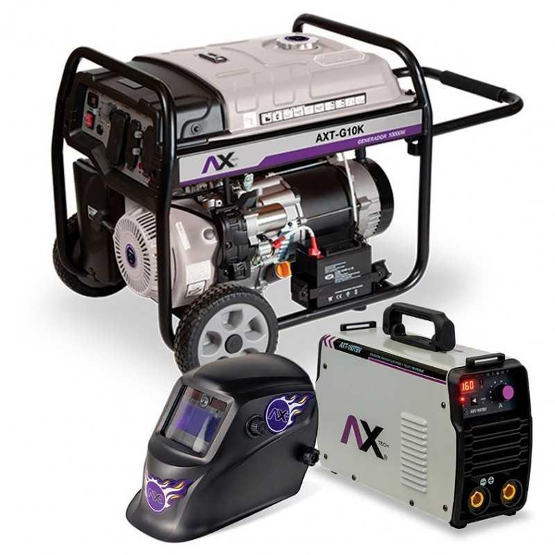 Generador 10,000 Watts 16 Hp 120-240 Volts Marcha Bateria Llantas CEN-AXT-G10K AXTECH