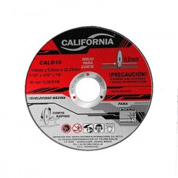 "Disco De Corte 4 1/2"" X 1/32""X 7/8"" Acero Inoxidable California Machinery CALD10 CALD10 CALIFORNIA MACHINERY"