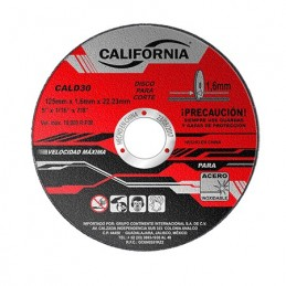 "Disco De Corte 5"" X 1/16""X 7/8"" Acero Inoxidable California Machinery CALD30 CALD30 CALIFORNIA MACHINERY"