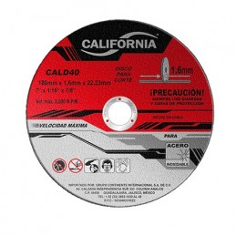 "Disco De Corte 7"" X 1/16""X 7/8"" Acero Inoxidable California Machinery CALD40 CALD40 CALIFORNIA MACHINERY"