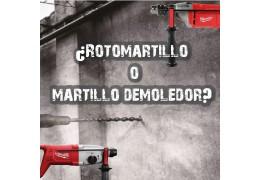 ¿Rotormartillo o martillo demoledor?